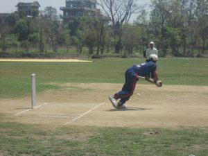Lumbini's B3 player shankar batting for Boundary