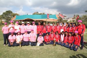 Blind Women Cricket Team of Both Nepal and the UK.
