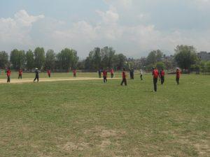 Valley Team On fileding for Team Lumbini