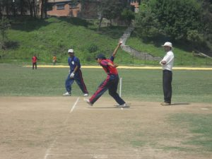Vally caption Kritan Sherestha Bowling