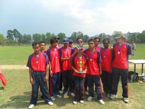 Vally team with Runner-up Trophy