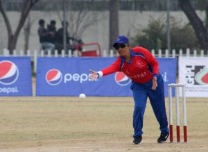 Abha Regmi of Nepal batting