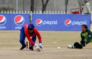 Asha Regmi of Nepal batting