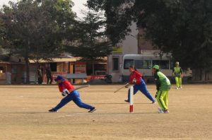 Batting by Nepal's Mankeshi