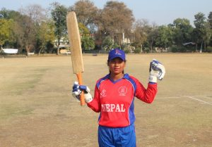 Mankeshi is the first Blind Women Cricketer to score 50 in international tournament.