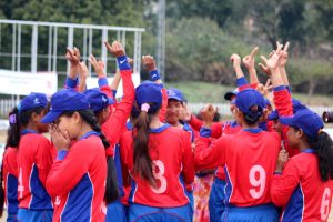 Nepali players celebrating after their regular 5th win
