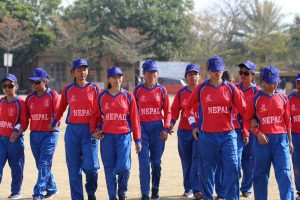 Nepal team after 10 wickets win over Pakistan