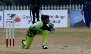 Nisha Bux of Pakistan Batting