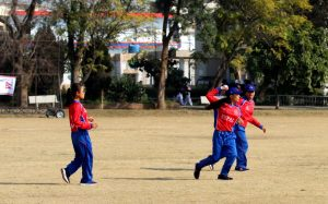 Sarita Giri of Nepal bowling