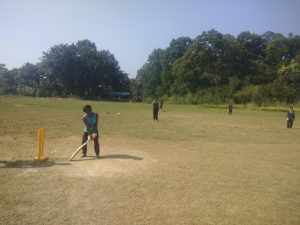 Player playing in the cricket ground